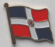 Dominican Republic Country Flag Enamel Pin Badge
